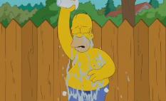 """Homero Simpson realiza su """"Ice Bucket Challenge"""" y desafía a Flanders"""