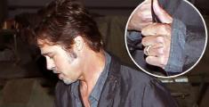 Aparece primera imagen del anillo de casado de Brad Pitt