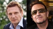 Liam Neeson y Bono, líder de U2, trabajan en un guión para una película