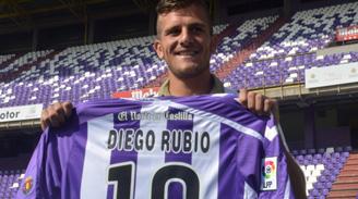"""Diego Rubio fue presentado en el Real Valladolid: """"Físicamente estoy preparado"""""""