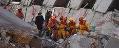 A dos días del terremoto en Taiwán, cinco personas fueron rescatadas con vida