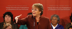 """Bachelet y datos de desempleo: """"Reflejan las complejidades de la economía y no cabe más que hacernos cargo de ellas"""""""